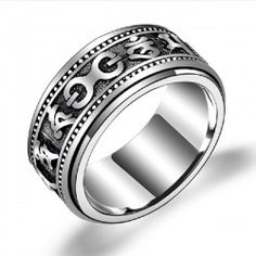 Lucky 925 Sterling Silver Rotatable Men's Ring