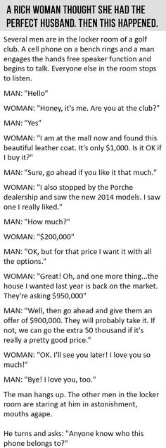 A Rich Woman Thought She Had The Perfect Husband Then This Happened funny quotes quote jokes story lol funny quote funny quotes funny sayings joke humor stories marriage humor. I Genuinely lol Funny Texts, Funny Jokes, Hilarious, Funny Sayings, Funny Sarcasm, George Clooney, Brad Pitt, Joke Stories, Hilarious Pictures