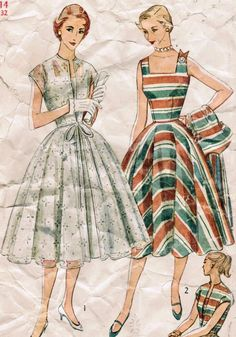 Vintage sundresses- LOVE these- totally my style! Wear dresses like this all summer!!