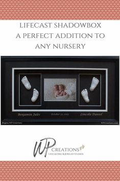 A stunning display for any nursery or wall decor. WP Creations can take lifecasts of your loved one's hands or feet and create a stunning shadowbox for you and your family to have for a lifetime. A wonderful gift and the perfect keepsake. Baby Hands, Kids Hands, Baby Feet, New Dads, Gifts For New Moms, Gifts For Dad, Newborn Gifts, Baby Gifts, Mother Gifts
