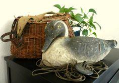 Duck Decoy / Antique Victor VeriLite Papier by happenstanceNwhimsy, $22.00