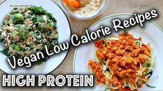 LOW CALORIE HIGH PROTEIN VEGAN RECIPES (Gluten-Free too!)  #CALORIE #glutenfree #HIGH