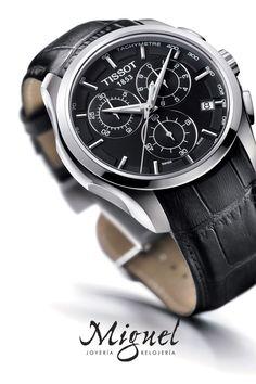 Reloj para novio o bodas: Reloj Tissot Couturier para hombre de cuarzo.