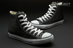 Converse Chuck Taylor All Star Hi Leather - Black e7b102d3c