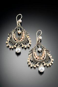 Pearl earrings by Musi Hunt. Musijewelry.com
