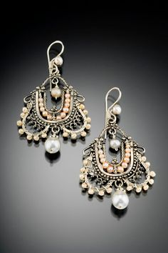 Pearl earrings by Musi Hunt. Musijewelry.com