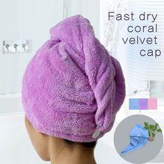 Towels Bathroom Hair Towel 1pc Womens Girls Magic Hair Drying Hat Shower Cap Salon Quick Dry Bath Microfiber Fabric #clothing,#shoes,#jewelry,#women,#men,#hats,#watches,#belts,#fashion,#style