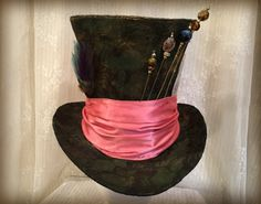 Tim Buton Mad Hatter Hat Top Hat Steampunk Johnny by MKButlerDidIt