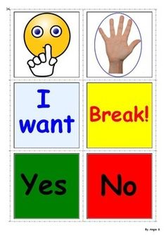 FREE! Autism Communication Cards, for more resources follow https://www.pinterest.com/angelajuvic/autism-special-education-resources-angie-s-tpt-sto/