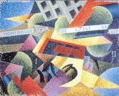 """Gino Severini: """"Luce + Velocità + Rumore, Interpretazione Simultanea"""", 1913."""