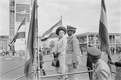Queen Juliana & Prince Bernard of the Netherlands arrive at Haile Selassie International Airport during their State visit to Ethiopia in January/February 1969 (1961 E.C) More than 400 large size Black & White beautiful Photographs taken in Addis Ababa, Aksum, Asmara, Bahirdar, Jimma, Lalibella & Wonji during Queen Juliana's 1969 Ethiopia visit are preserved at the Dutch National Archive, & can be viewed at: http://www.geheugenvannederland.nl/?/en/homepage