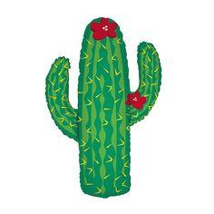 Mylar Balloon, Desert Cactus
