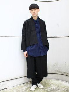 monomania ラフォーレ原宿店   takashi ozawaさんのノーカラージャケット「yaponskii 」を使ったコーディネート