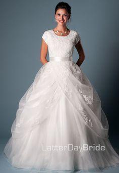 Modest Wedding Dress, Devondra   LatterDayBride & Prom  MY DREAM CINDERELLA WEDDING DRESS