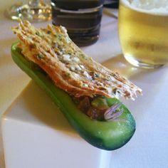 Pepino con sardina salada #LaFinca #Blogtrip - @Garbancita