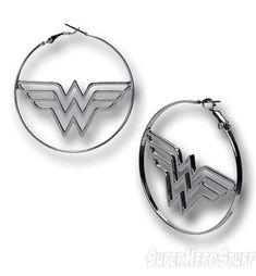 Wonder Woman Hoop Earrings