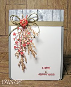 Kismet, Art, and Life: Sneak Peek-Casual Comfort - Wendy Schultz ~ Christmas Cards Making Greeting Cards, Greeting Cards Handmade, Fall Cards, Christmas Cards, Wedding Cards Handmade, Love Cards, Card Tags, Paper Cards, Creative Cards