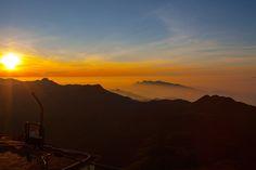 Srí Lanka - pohled z vrcholu Adamovy hory