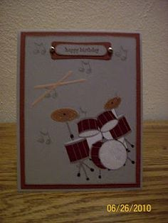 Indiana Inker - Happy Birthday Card - Drums - Stampin' Up!