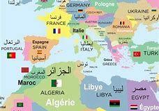 carte du monde arabe