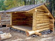 lean tos gazebos and one room cabins. I would love to try this summer project with the kids down by the creek One Room Cabins, Cabins And Cottages, Cabins In The Woods, Small Log Cabin, Wood Shed, Survival Shelter, Log Homes, Bushcraft, Outdoor Living