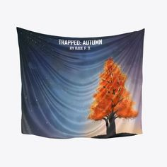 The iconic tree from the cover of Trapped: Autumn now available. Get your Trapped: Autumn pillow now, available for everyone. Fall Pillows, Tapestry, Autumn, Wallpaper, Cover, Books, Design, Hanging Tapestry, Tapestries