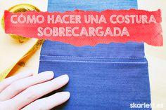 CÓMO HACER UNA COSTURA SOBRECARGADA – Aprender a coser