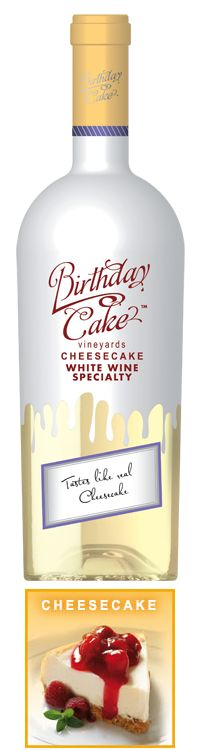 Cheesecake - White Wine Specialty - Birthday Cake Wines