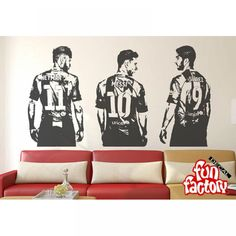 Cheap wall decals stickers, Buy Quality decal sticker directly from China lionel messi Suppliers: Luis Suarez Lionel Messi Neymar da Silva FC Barcelona Wall Decal Sticker Creative Vinyl Sports home Decal Soccer Bedroom, Football Bedroom, Wall Stickers Unicorn, Wall Decal Sticker, Wall Decals For Bedroom, Wall Stickers Home Decor, Lionel Messi, Football Rooms, Football Wall