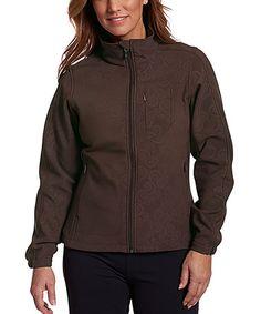 Another great find on #zulily! Brown Baroque Summit Jacket #zulilyfinds