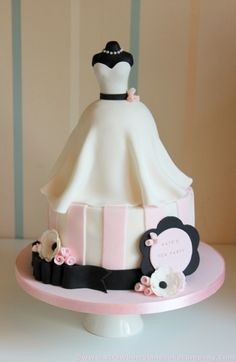 @KatieSheaDesign Likes--> #Cake #Wedding Dress Bridal Shower Cake.  I can so do that!