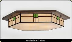Contemporary Craftsman Ceiling Light Handmade in the U.S.A by American Artisans. Free Shipping in the USA.