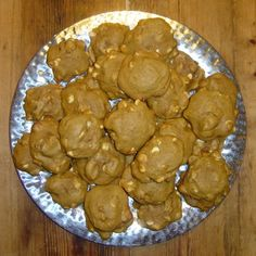 A blog posting about and recipe for pumpkin cookies with white-chocolate chips and pecans.