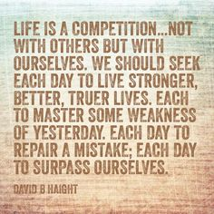 Life is a competition~