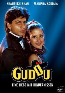 Shahrukh Khan and Manisha Koirala - Guddu (1995) - German edition