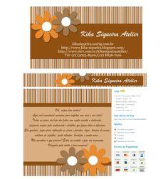 Cantinho do blog Layouts e Templates para Blogger: Cartão de Visitas
