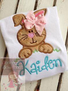 Easter Shirt or Bodysuit for girls -- Hippity Hop -- Easter Bunny bodysuit or shirt -- pastel aqua, pink, mint