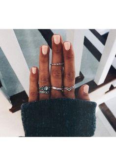 Rings chic and edgy beauty nails, nail ring и acrylic nails Manicures, Gel Nails, Acrylic Nails, Nail Polish, Nail Nail, Glitter Nails, Manicure E Pedicure, Mani Pedi, Cute Nails