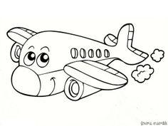 Airplane coloring page 05 Airplane Coloring Pages, Free Kids Coloring Pages, Preschool Coloring Pages, Disney Coloring Pages, Colouring Pages, Printable Coloring Pages, Coloring Pages For Kids, Coloring Books, Art Drawings For Kids