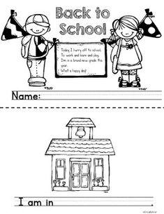 Back to School Mini-Book Freebie 1st Day Of School, School Days, School Stuff, Back To School, Numbers Preschool, Beginning Of The School Year, School Themes, Mini Books, Open House