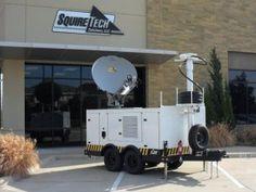 1.5 Meter AvL Satellite Antenna on Communications Trailer