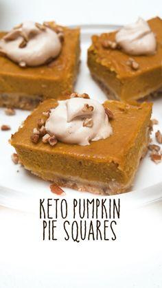 Paleo Pumpkin Recipes, Dairy Free Pumpkin Pie, Keto Pumpkin Pie, Pumpkin Pie Bars, Pumpkin Pumpkin, Primal Recipes, Pumpkin Dessert, Low Carb Recipes, Keto Dessert Easy