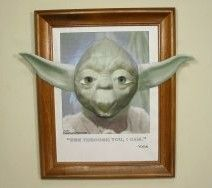 "Yoda 3D Papercraft with ""Follow Me"" Eyes"