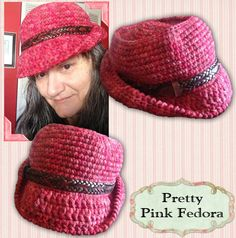 Free Fedora Hat Pattern available from Grammy's Heart, with Love! A free #crochet pattern for the hottest hat style of 2014! When I travel I see these everywhere!