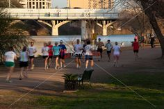 Runners, joggers, and walkers all make the Lady Bird Lake Hike and Bike Trail…