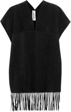 Valentino Fringed suede cape on shopstyle.co.uk