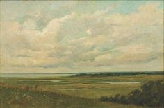 """""""The Marshes at Hyannisport,"""" Arthur Hoeber, oil on canvas, 20 1/4 x 30"""", private collection."""