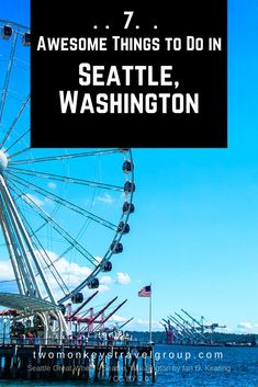 7 Awesome Things to Do in Seattle, Washington, USA.  Seattle is a coastal city at the Pacific North West of the United States. Made famous by TV series and movies shot in this city such as: Grey's Anatomy, Sleepless in Seattle and Fifty Shades of Grey.
