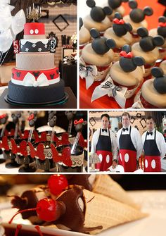 Vintage Mickey and Minnie Mouse Party with LOTS of Ideas via Kara's Party Ideas | Kara'sPartyIdeas.com