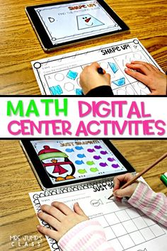 Digital Student Center Activities for kindergarten and first-grade classrooms. These paper saving math activities, with response worksheets, will be a classroom favorite.